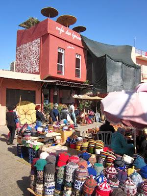 Cafe des Épices en el zoco de Marrakech