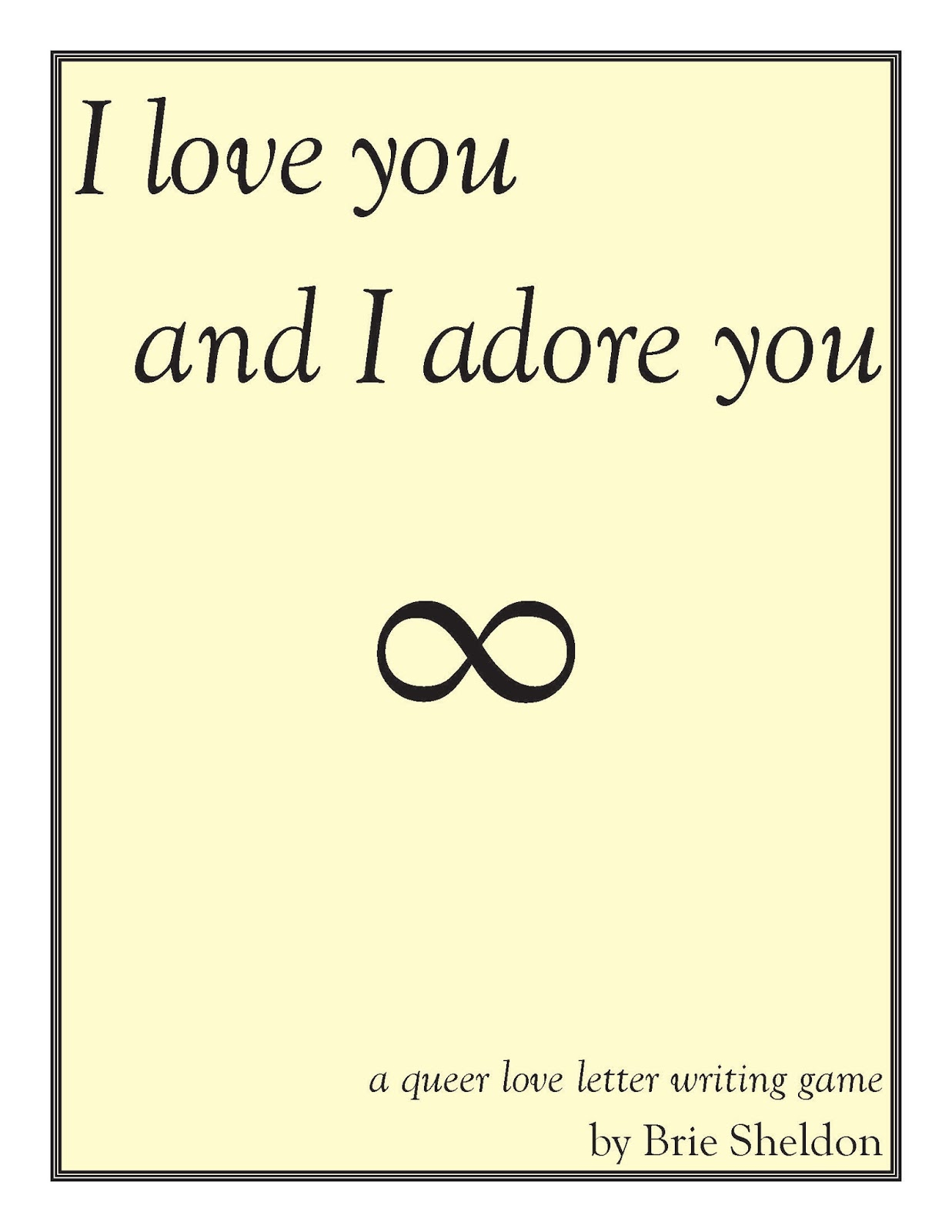 I adore you letter