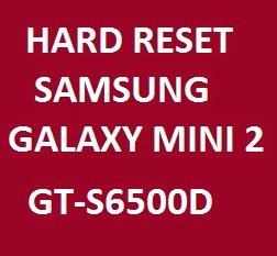 Tutorial of erasing data Samsung gt-s6500d that you can find here.