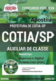 Concurso Prefeitura de Cotia/SP 2015.