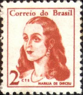Selo postal - Matéria Marília de Dirceu - BLOG LUGARES DE MEMÓRIA