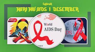logo memperingati hari hiv aids png vector