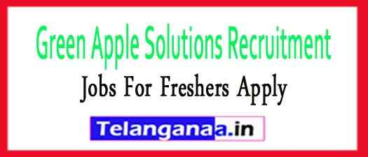 Green Apple Solutions Recruitment Jobs For Freshers Apply