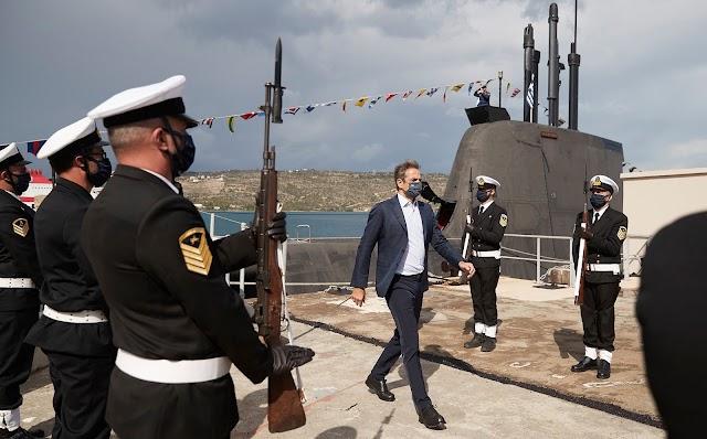 Ακόμη πιο απειλητικά τα Ελληνικά υποβρύχια-Τι είπε ο Μητσοτάκης από το «Κατσώνης» (ΒΙΝΤΕΟ)