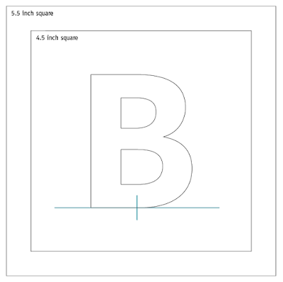 Quiling Letter B Free Tutorial Pattern Template