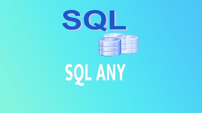 SQL ANY