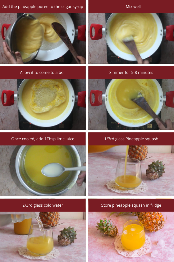 Steps to make Pineapple concentrate