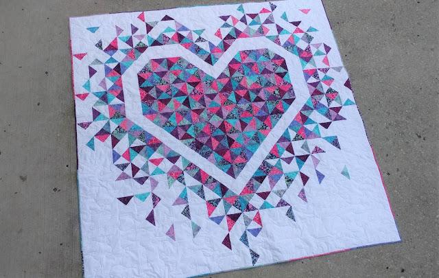 Exploding Heart quilt pattern