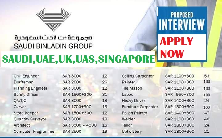 JOB IN BINLADIN GROUP IN WORLD WIDE   !! - News Pulses