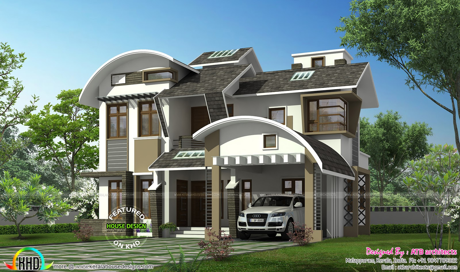 2111 sq ft ultra modern house kerala home design and for Ultra modern home plans