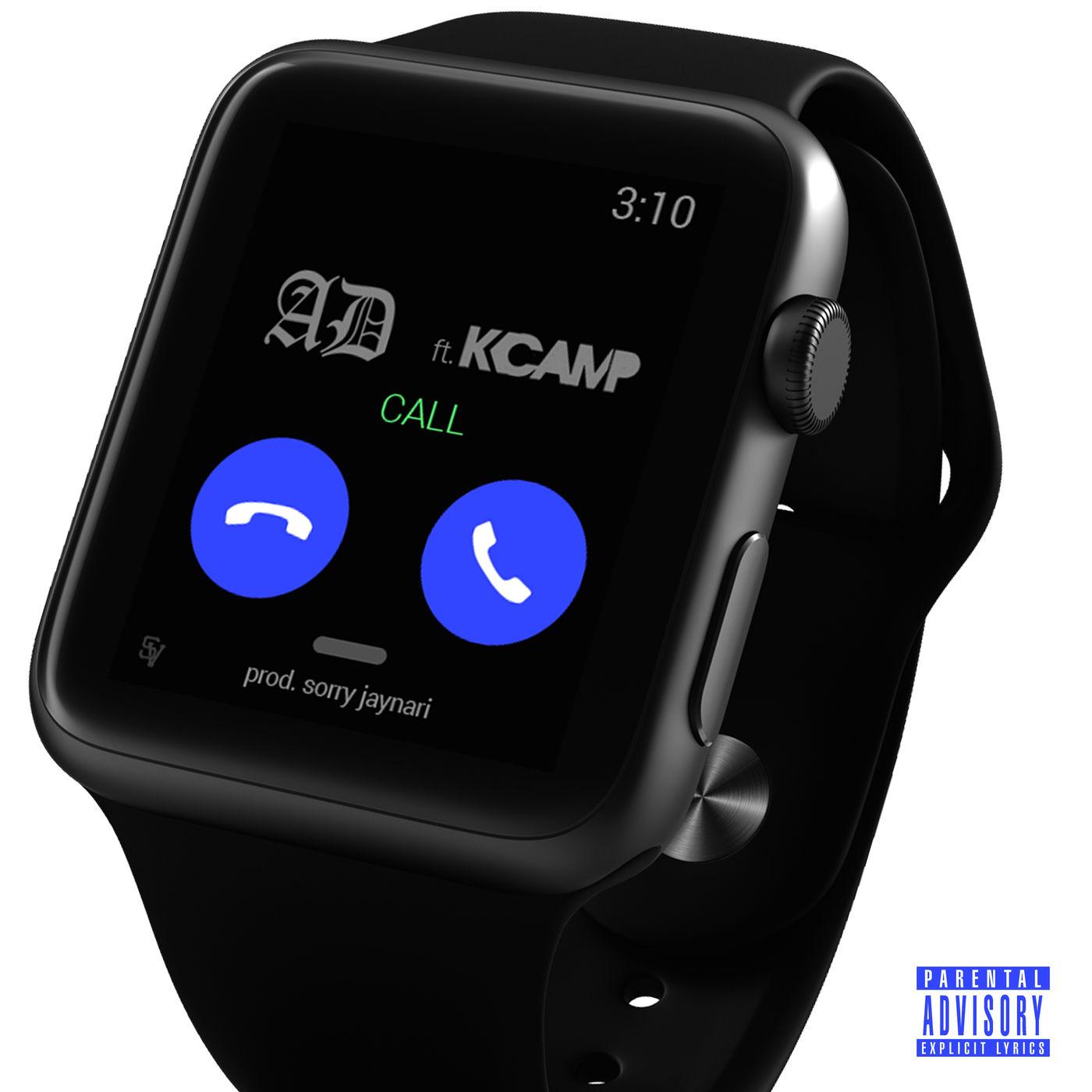 AD & Sorry Jaynari - Call (feat. K CAMP) - Single   Cover