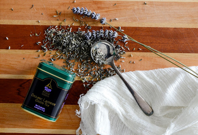 Organic Lavender Green Tea handmade by Pelindaba Lavender
