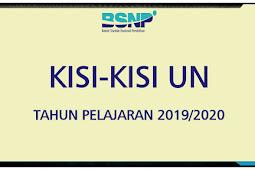 BSNP: Kisi-kisi UN UNBK SMP/MTs SMA/MA SMK/MAK Tahun 2020