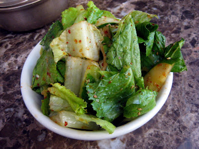 House Romaine Salad at Bann Restaurant in New York, NY - Photo by Taste As You Go