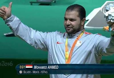 """""""محمد السيد""""يحرز لمصر الميدالية الفضية الرابعة والعاشره ببارأوليمبياد ريو بالبرازيل"""