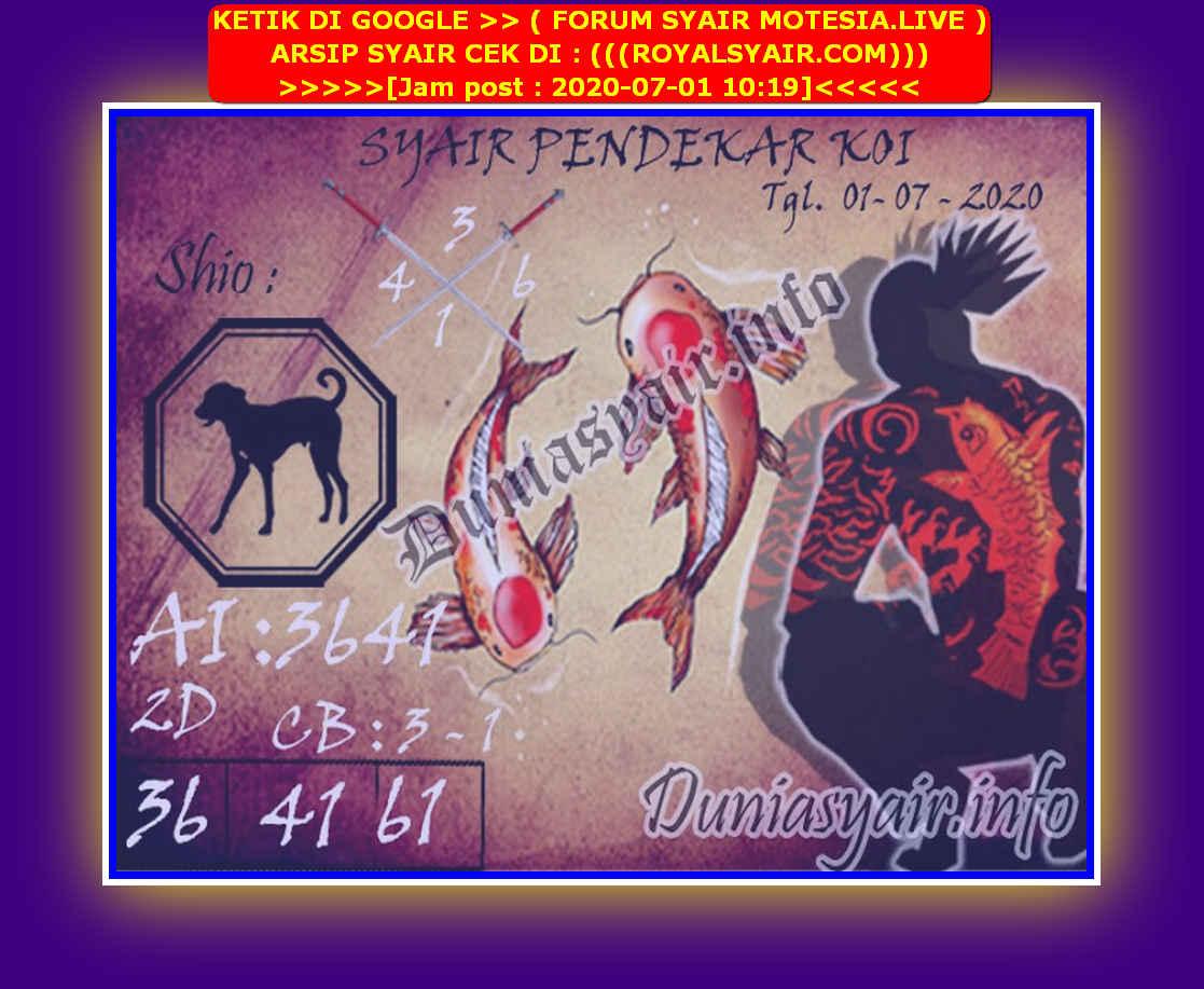 Kode syair Sydney Rabu 1 Juli 2020 209