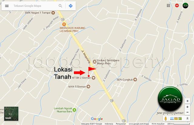 Tanah Dijual dekat Lembah Ngosit ( jalan Magelang Km 16,5 )