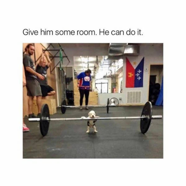 Give him some room. He can do it.