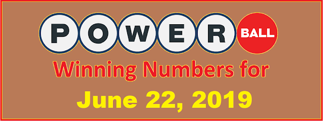 PowerBall Winning Numbers for Saturday, June 22, 2019