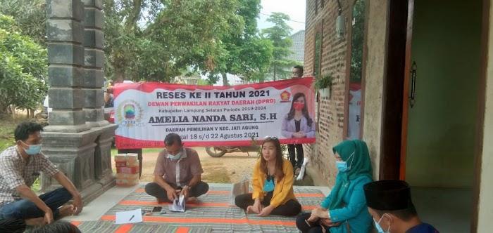 Amelia Gelar Reses di Desa Margodadi Jati Agung