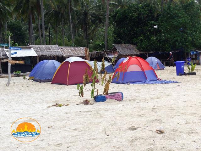lokasi camping di pantai minang rua bakauheni