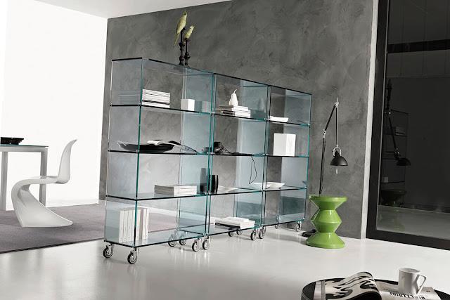 Glass bookcase