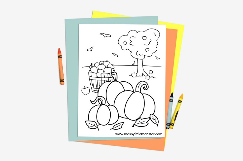 Free Printable Fall Coloring Pages to Print