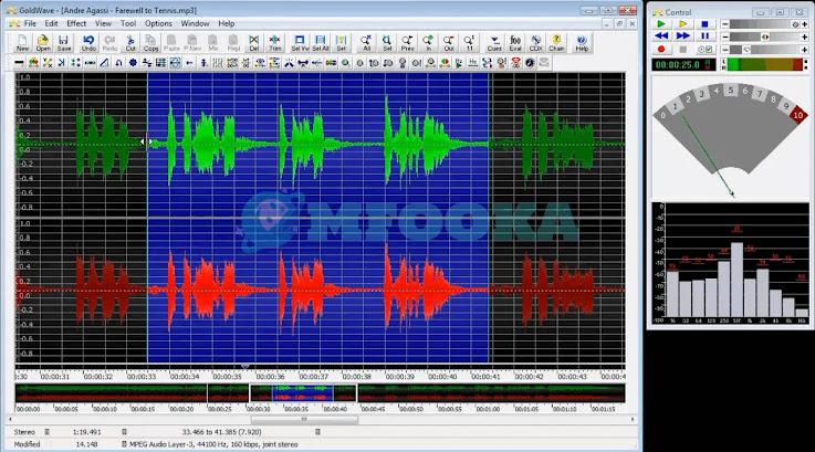 تحميل برنامج فصل الصوت عن الموسيقى للكمبيوتر 2021 GoldWave - Audacity