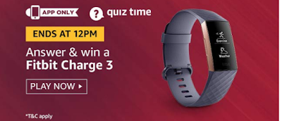 Amazon Fitbit Charge 3 Quiz 3rd August 2019 All Answers | Free Stuff