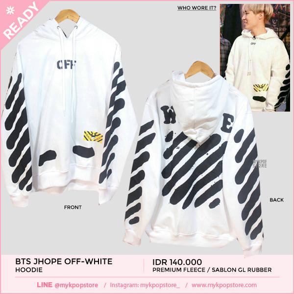 BTS Jhope Off-white Hoodie