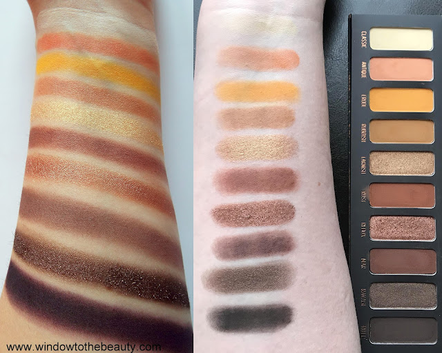 Melt Cosmetics Rust swatches