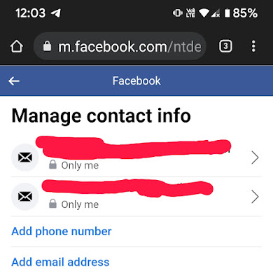 How to change my Facebook email or phone number