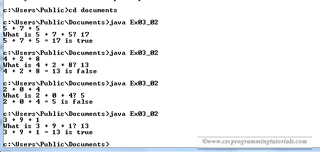 Solution to Liang's Java Exercise 3.2: Game: Add Three Numbers