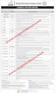 Pakistan Reinsurance Company Limited Jobs 2019 advertisement form