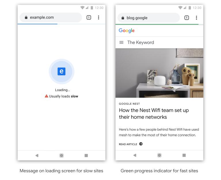 جوجل كروم يعلن اظهار بادج الصفحات البطيئة