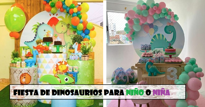14 decoraciones para una fiesta de Dinosaurio que puedes hacer en casa