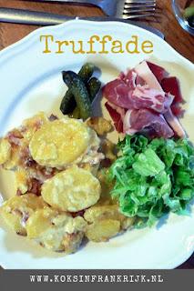 Truffade, één van de meest populaire streekgerechten uit de Auvergne. Een zeer smakelijk, maar eenvoudig boerengerecht met aardappel en kaas als hoofdbestanddelen.