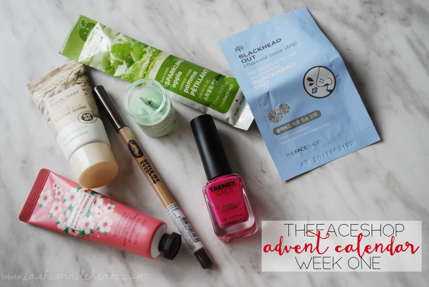 bbloggers, bbloggersca, thefaceshop, advent, canada, skincare, christmas