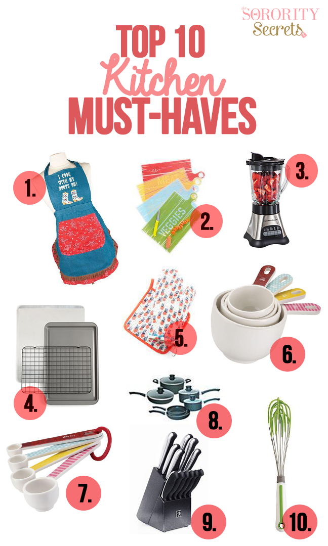 The Sorority Secrets 10 Kitchen MustHaves For Every Woman