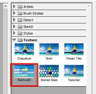 langkah 4 membuat efek patchwork