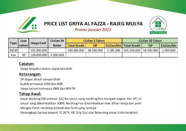 Griya Al Fazza Rajeg Mulya