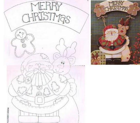 Papá Noel puerta