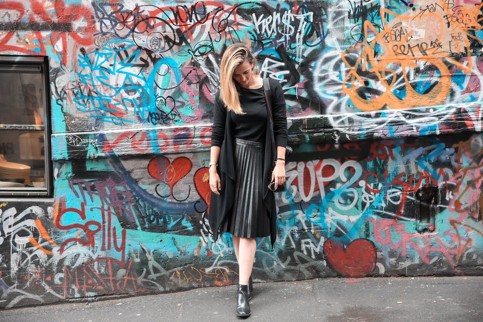 Alicia Mara at Hosier Lane in Melbourne, Travel Guide