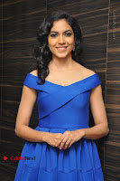 Actress Ritu Varma Pos in Blue Short Dress at Keshava Telugu Movie Audio Launch .COM 0002.jpg