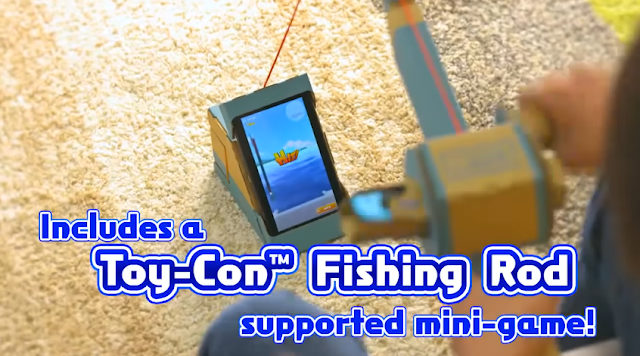 Fishing Star World Tour Toy-Con Fishing Rod trolling minigame