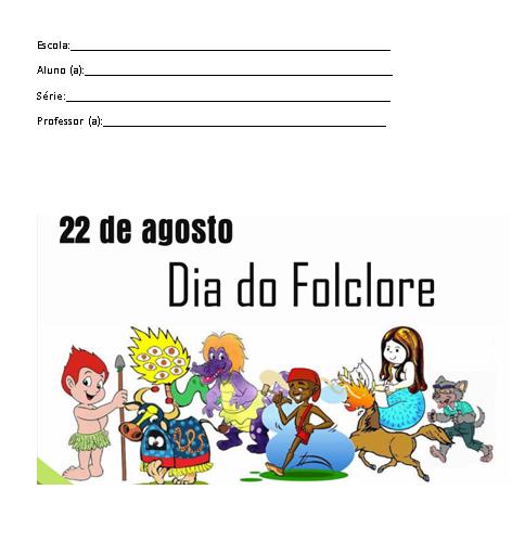 Capa De Trabalho Escolar Do Folclore Brasileiro Modelo