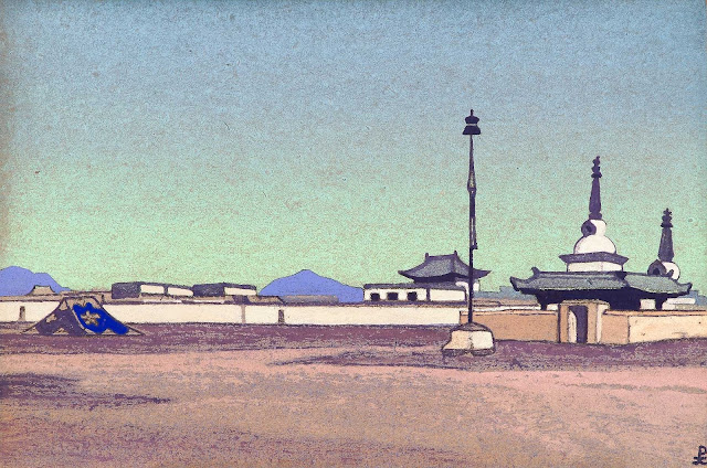 Николай Рерих - Батухалка, столица Внутренней Монголии