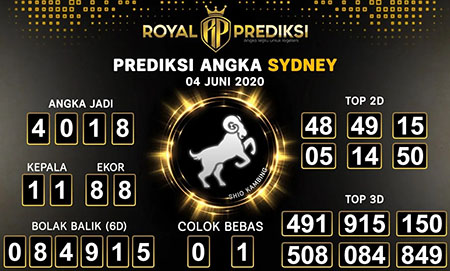 Prediksi Togel Sydney Kamis 04 Juni 2020 - Royal Prediksi