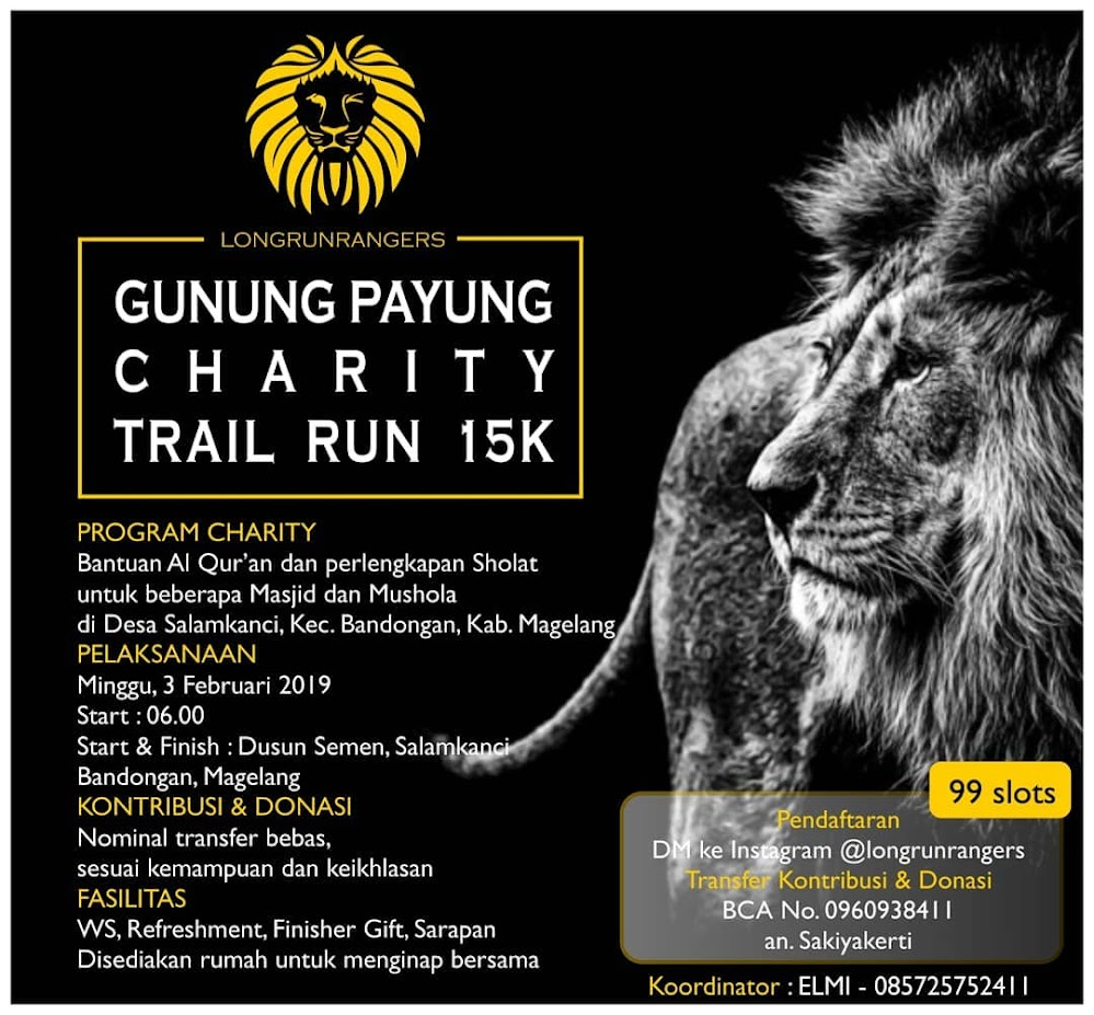 Gunung Payung Charity Trail Run • 2019