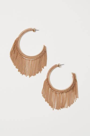 H&M hoop earrings with chains